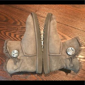 UGG Shoes - UGG Australia Sheepskin Short Gem Button Boots